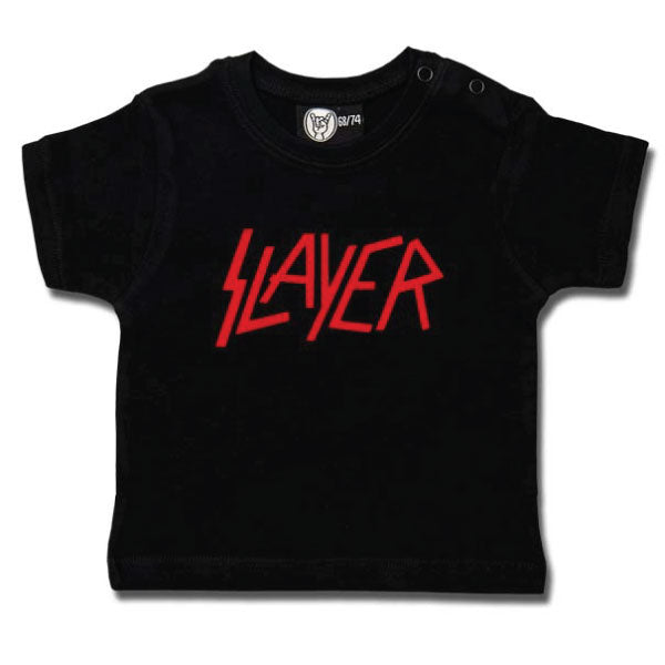 Slayer Baby T-Shirt Logo - Black/Red