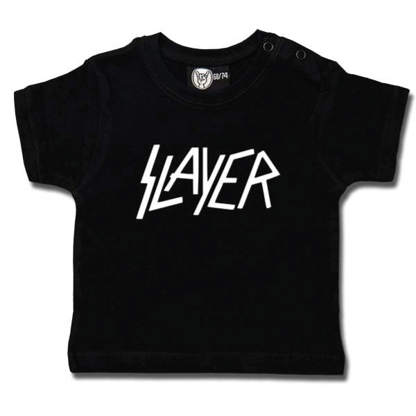 Slayer Baby T-Shirt Logo - Black/White