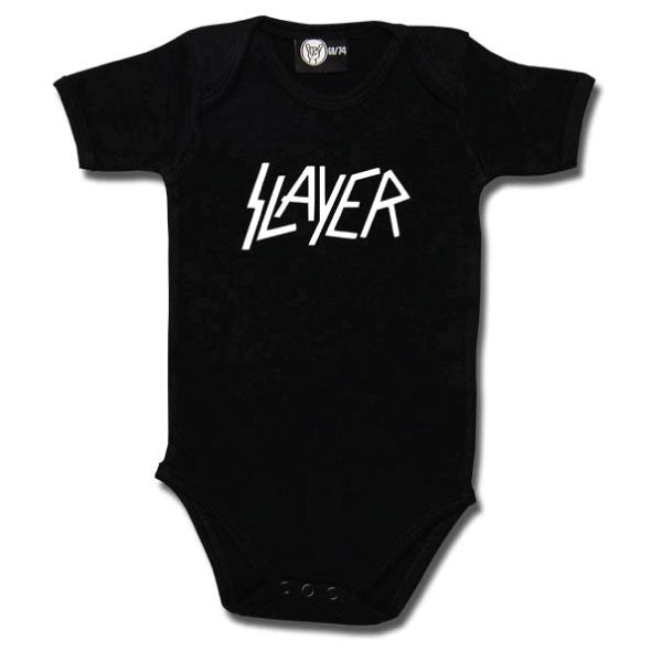 Slayer Babygrow Logo - Black/White