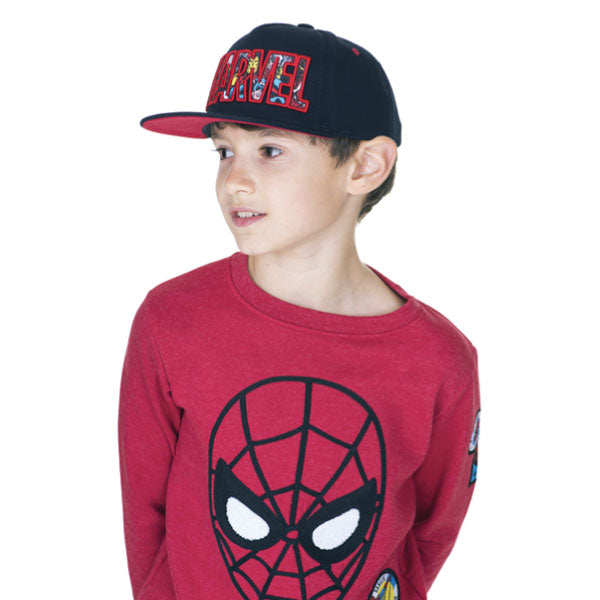 Spiderman Kids Sweatshirt - Spiderman Face Appliqué