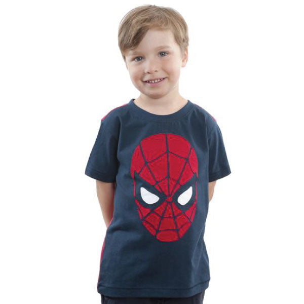 Spiderman Kids T-Shirt - Spiderman Face Appliqué