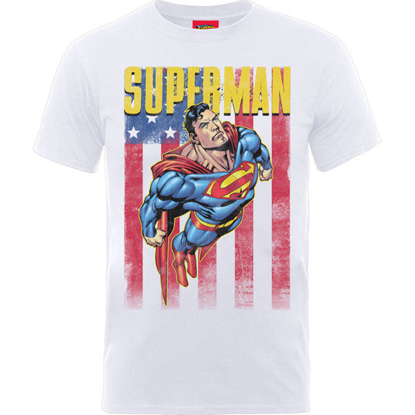 Superman Kids T-Shirt by DC Comics - Superman US Flag