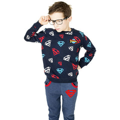 Superman Kids Sweatshirt - Glow in the Dark Superman Logo