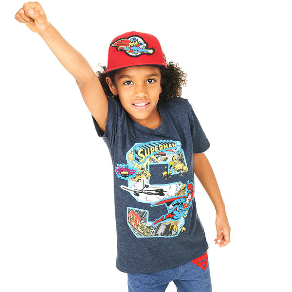 Superman Kids T-Shirt - Superman Comic Book Appliqué