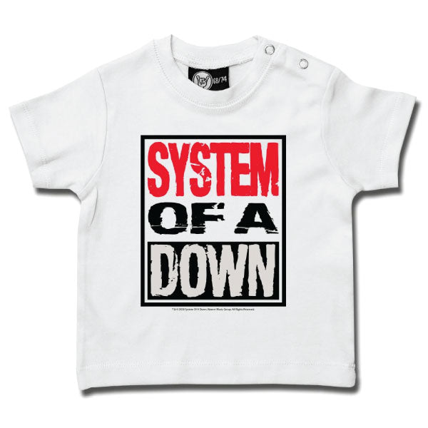 System Of A Down Baby T-Shirt - White