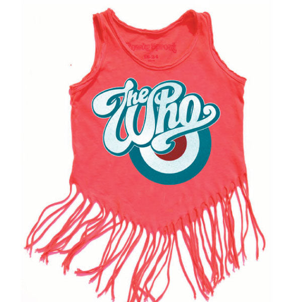 The Who Frilly Girls Tank Top - Red