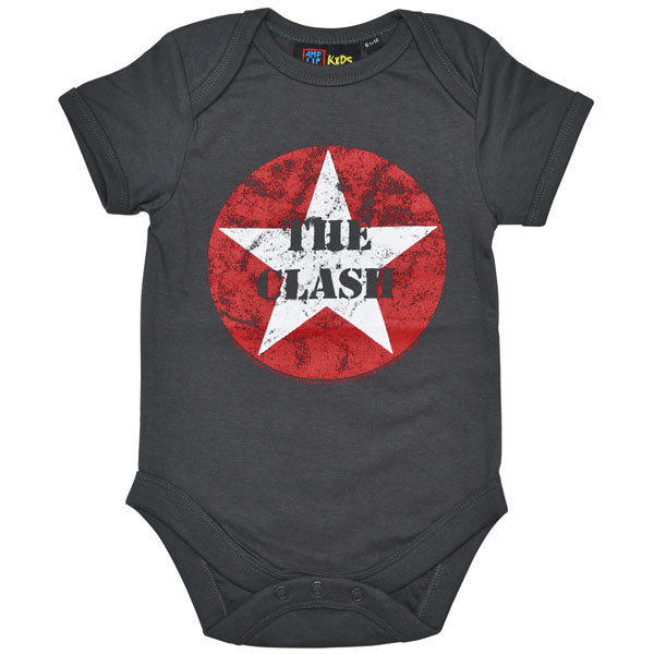The Clash Babygrow - The Clash Star Logo
