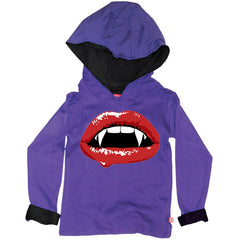 Vampire Lips Kids Hoody by Stardust