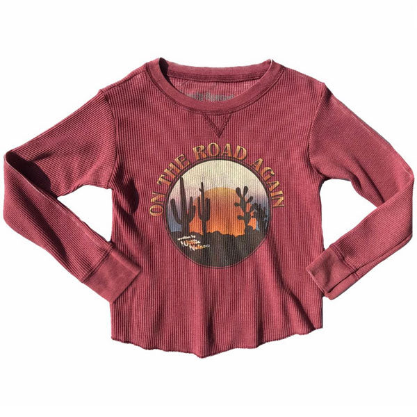 Wilie Nelson Kids Burnout T-Shirt - On The Road Again