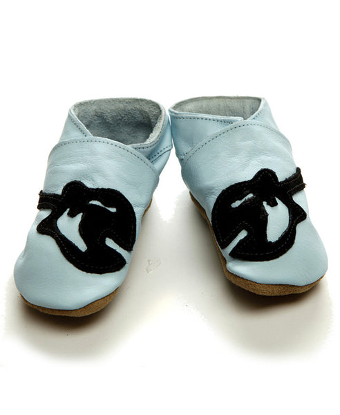 Guitar Baby Shoes  - Blue Leather