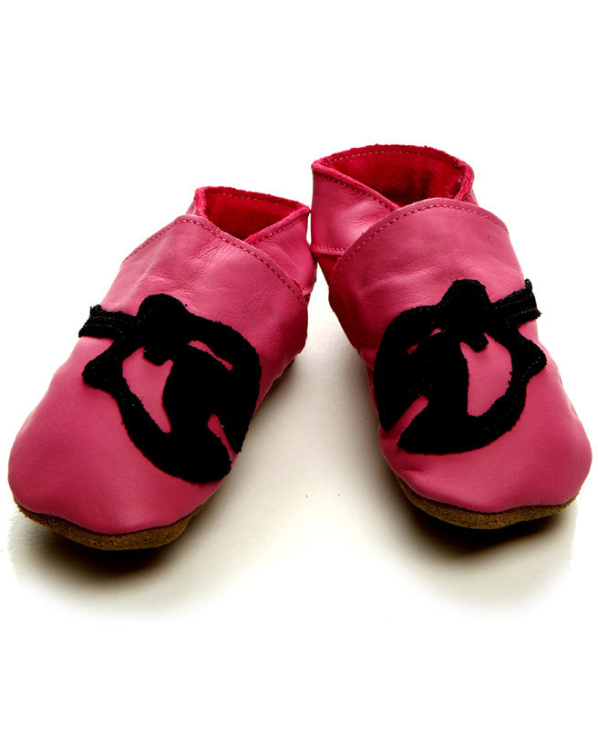 Guitar Baby Shoes - Pink Leather