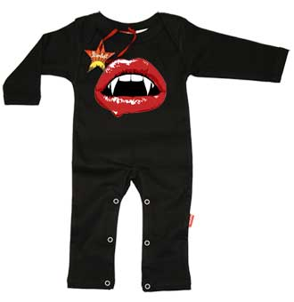 Bella Vampire Lips Baby Playsuit