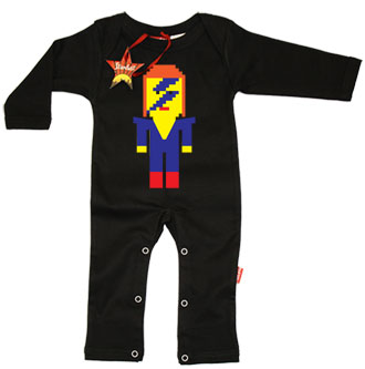 Lego David Bowie Baby Playsuit by Stardust