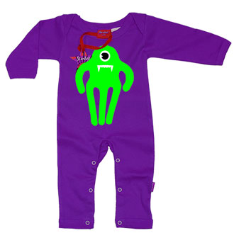 Monster Vampire Baby Playsuit by Stardust