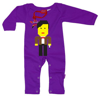 Lego Dr Who Baby Playsuit by Stardust