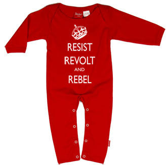 Resist, Revolt & Rebel Baby Playsuit