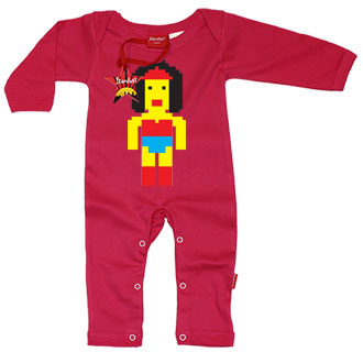 Lego Wonderwoman Baby Playsuit