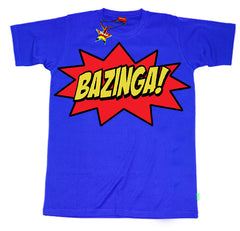 Bazinga Kids T-Shirt by Stardust - Blue