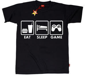 Eat Sleep Game Teenage Boys T-Shirt by Stardust