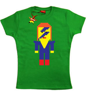 Lego David Bowie Teenage Girls T-Shirt