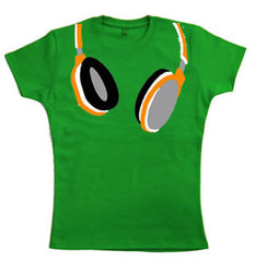 Teenage Girls Headphones T-Shirt by Stardust