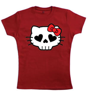 Hell Kitty Teenage Girls T-Shirt