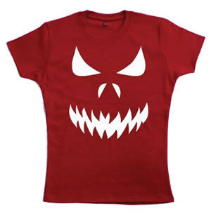 Scary Face Teenage Girls T-Shirt by Stardust