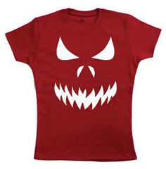 Scary Face Teenage Girls T-Shirt