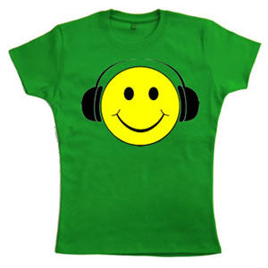Smiley Face Teenage Girls T-Shirt