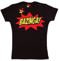 Bazinga Teenage Girls T-Shirt by Stardust
