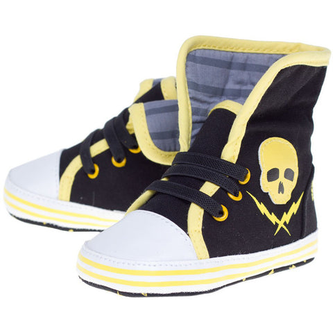 Skull and Bolts Baby Boots