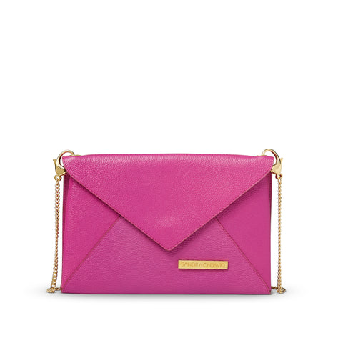 Carrie Envelope Clutch with Gold Chain