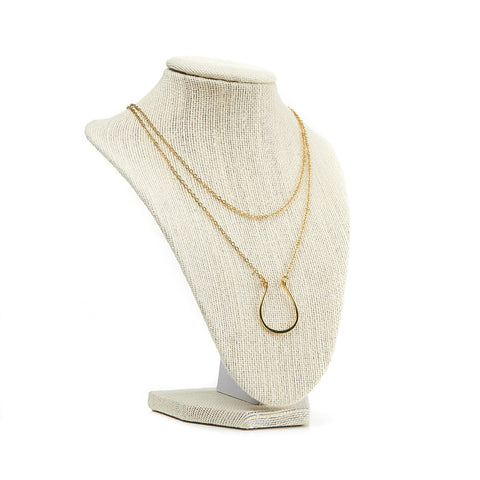 Horseshoe Necklace {Gold}