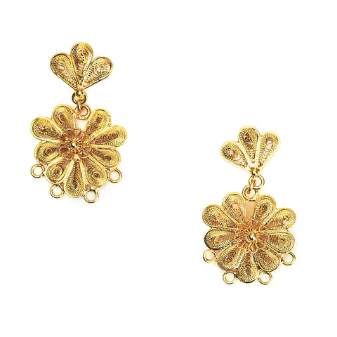 Royal Flower Earrings