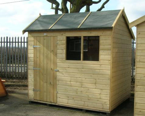 APent Garden Shed in 19mm loglap timber