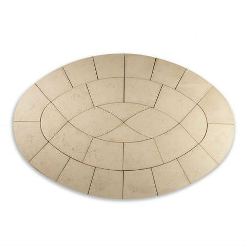 Bowland Baroque Oval Paving Kit.