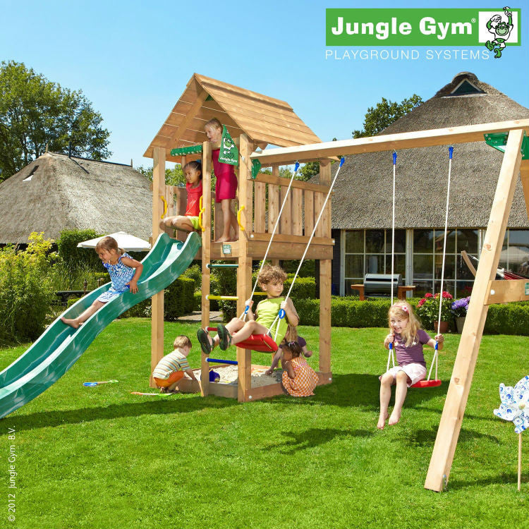 Jungle Gym Cabin and Swing Module