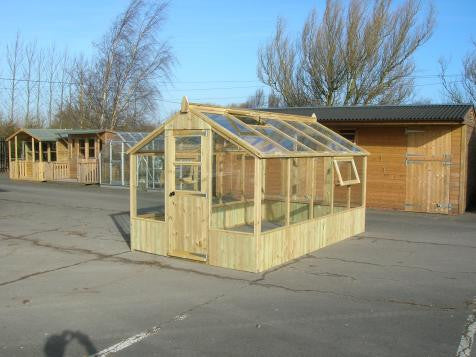Redwood Professional greenhouse in pressure treated timber