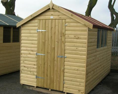 Apex Garden Shed in 19mm loglap