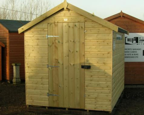 Security Apex Garden Shed in 19mm loglap
