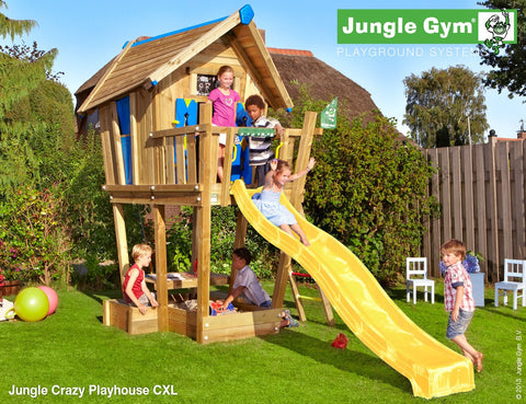 Jungle gym crazy playhouse xl riverside garden centre chesterfield derbyshire for Casetta giardino bimbi usata
