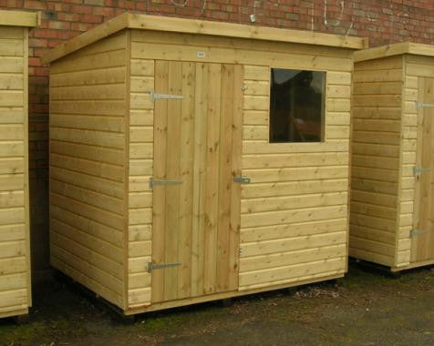 Kirton Pent Garden Shed in 19mm loglap