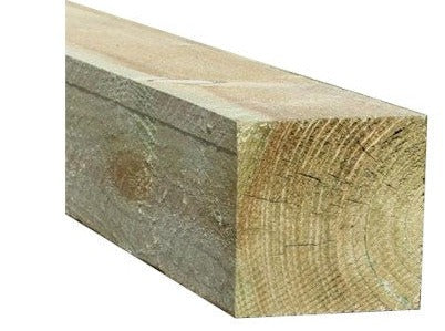 "WOODEN FENCE POSTS - 100 x 100 mm (4"" x 4"") Section-Pressure Treated"