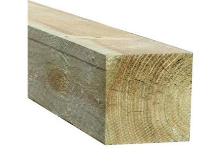 "WOODEN FENCE POSTS - 75 x 75 mm (3"" x 3"") Section-Pressure Treated"