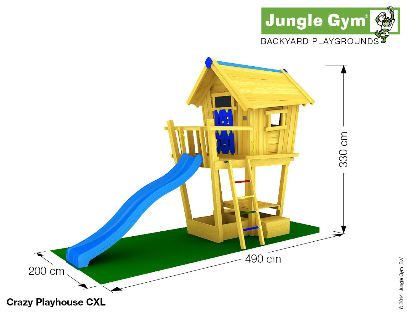 Jungle Gym Crazy Playhouse XL | Riverside Garden Centre ...