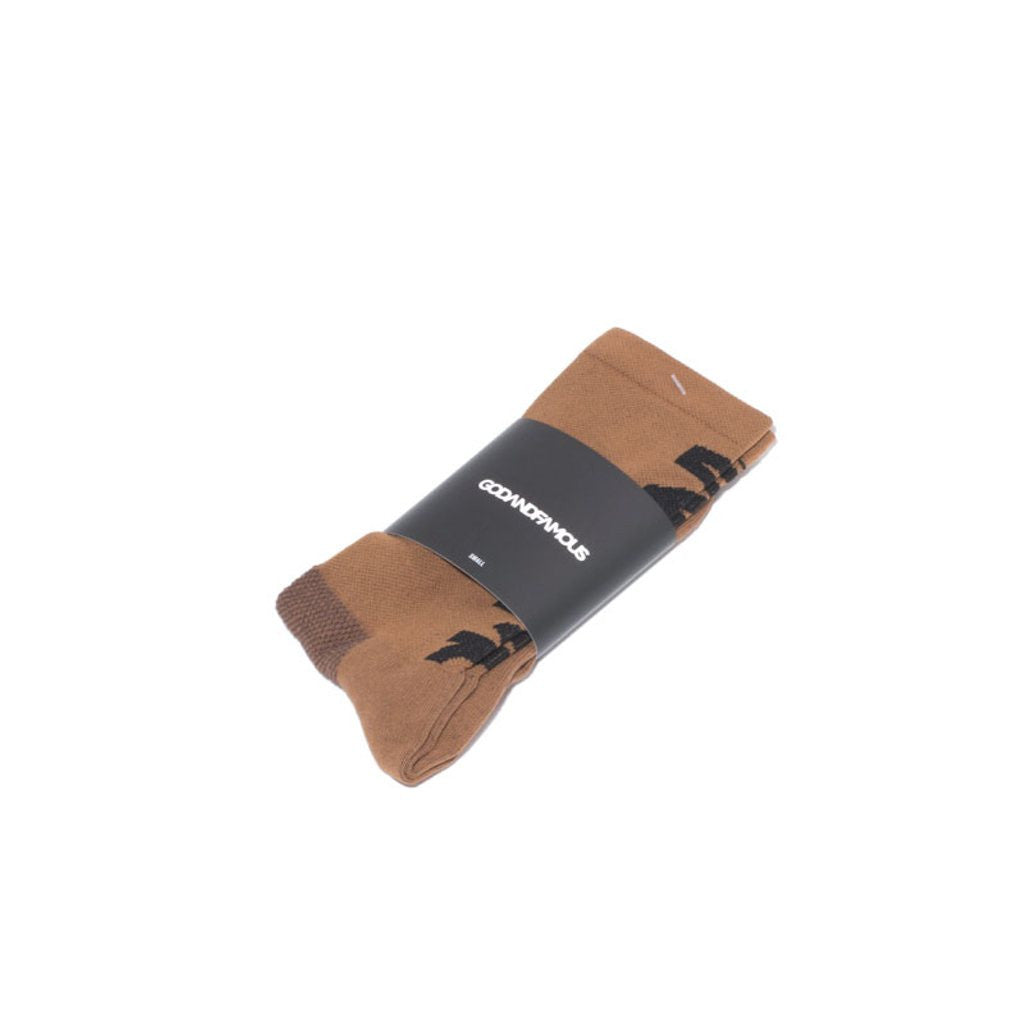 Godandfamous - Brownie Sock - Carmel