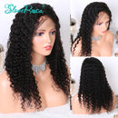 Emily - 360 Deep Wave Wigs Pre Plucked With Baby Hair 150% Density Natural Color Lace Front Wig Human Hair Wigs Peruvian Hair Slove Rosa