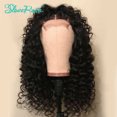 Mia - 360 Lace Frontal Wigs Brazilian Remy Hair Curly Wave Thick End Full Human Hair Wigs Bleached Knots With Pre Plucked Slove Rosa