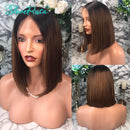 Maria - Short Human Bob Wigs 1B/30 Brazilian Remy Hair Wigs For Women Lace Front Human Hair Wigs Bleached Knots Pre Plucked Slove Rosa