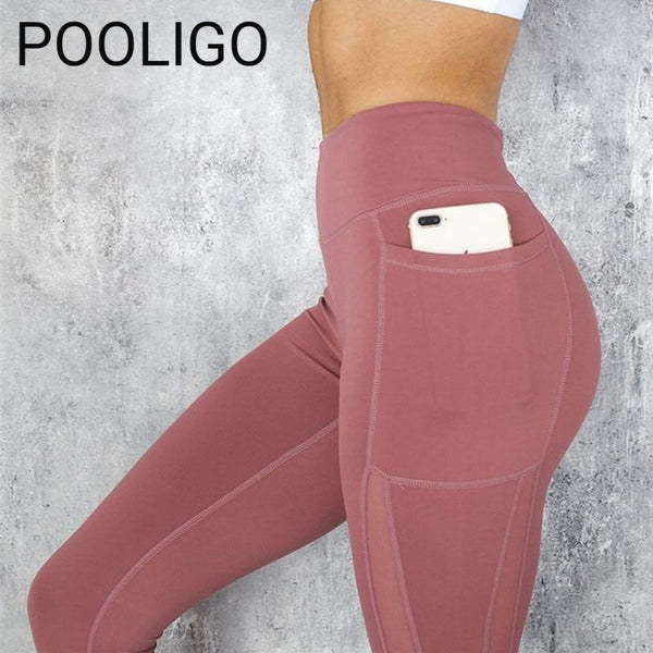 Leggings - Womens Push up High Waist Pocket Workout Leggings 2019 - Fashion Casual Active Wear